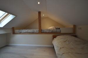 Slaapkamer 3 (toegankelijk via vlizotrap)